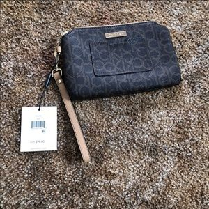 Calvin Klein leather pouch bag.